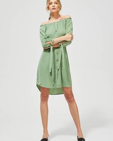 Svetlozelené šaty Moodo