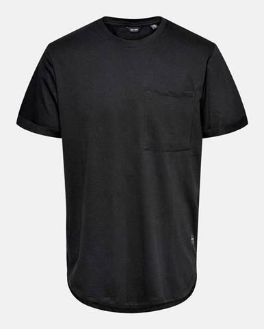 Čierne tričko ONLY & SONS Gavin