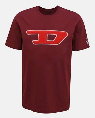 Vínové pánske tričko Diesel