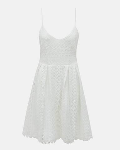 Biele krajkové šaty ONLY Helena