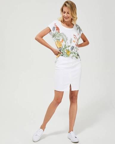 Biela sukňa Moodo