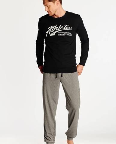 Čierno-sivé pyžamo Optim
