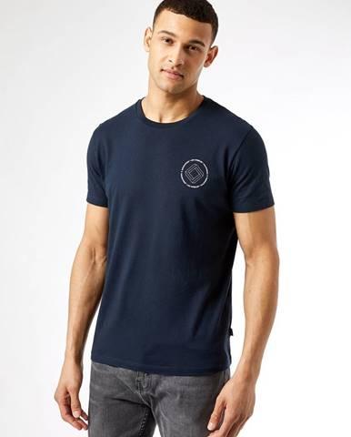 Tmavomodré tričko Burton Menswear London