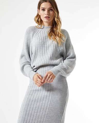 Šedý sveter Dorothy Perkins