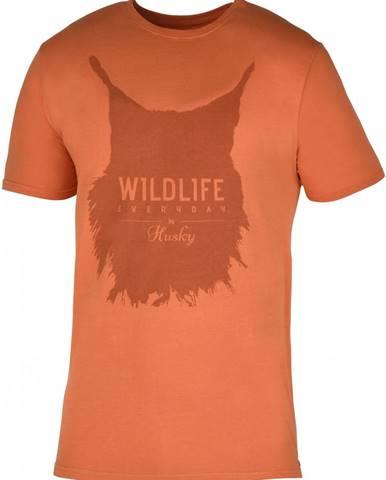 Lynx M tm. oranžová, L Pánske tričko