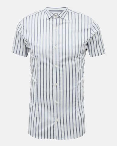 Svetlomodrá pruhovaná košeľa Jack & Jones Blaparma