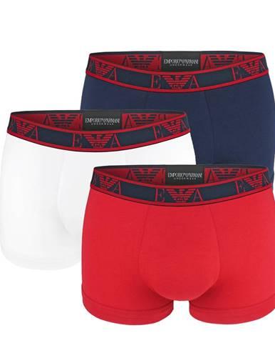 EMPORIO ARMANI - 3PACK stretch cotton rosso boxerky-L (86-91 cm)