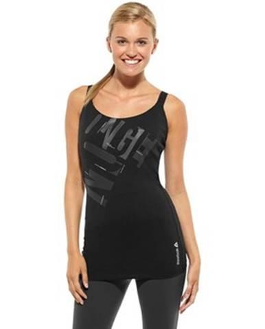 Tielka a tričká bez rukávov Reebok Sport  Printed Long Bra Top