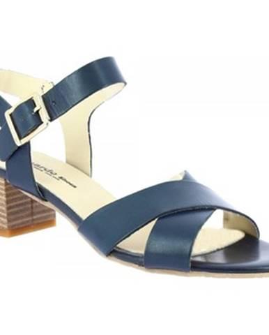 Sandále Leonardo Shoes  C 40 VACCH BLU