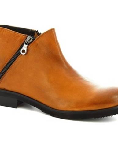 Nízke čižmy Leonardo Shoes  4729 ROK CUOIO