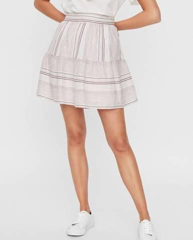 Biela vzorovaná sukňa VERO MODA Hazel