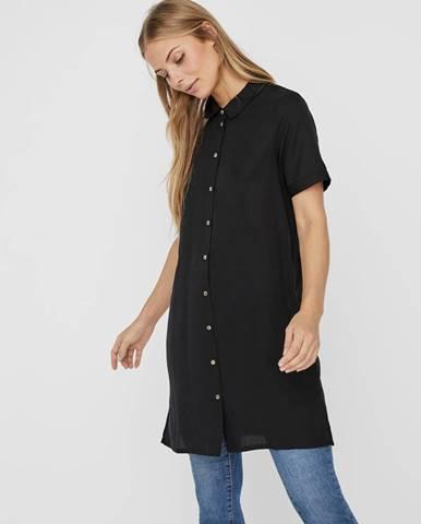 Čierne košeľové šaty VERO MODA Chloe