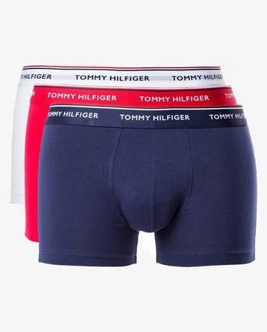 Tommy Hilfiger Boxerky 3 ks Modrá Červená Biela