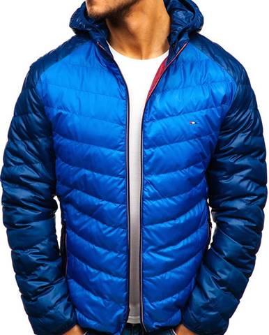 Modrá pánska športová prechodná bunda