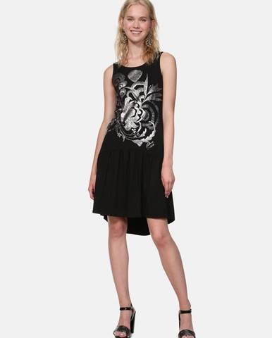 Čierne šaty Desigual Omahas