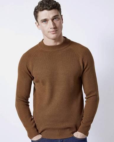 Hnedý basic sveter Burton Menswear London