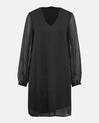 Čierne pruhované šaty VERO MODA Doria
