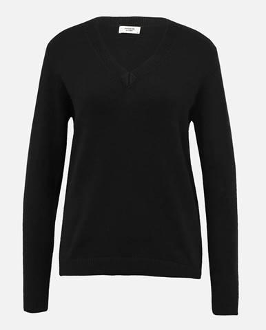 Čierny basic sveter Jacqueline de Yong Marco