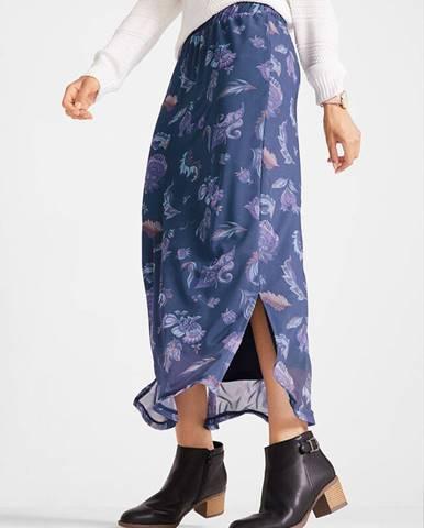 Maxi sukňa, zo sieťoviny, s potlačou, s gumičkou v páse