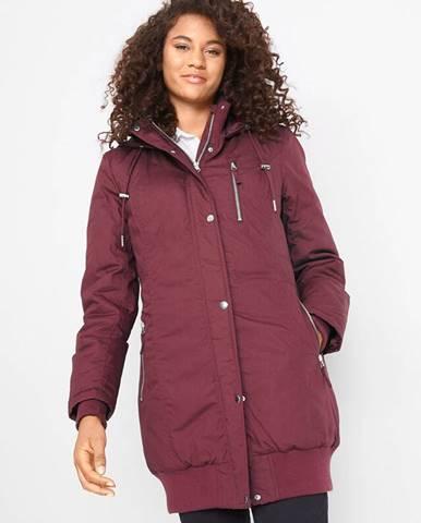 Dlhá bunda s kapucňou, vatovaná