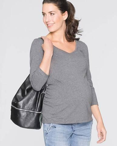 Dvojdielne balnie - tehotenské tričko s 3/4-ovým rukávom, z bio bavlny