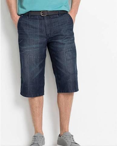 Dlhé džínsové bermudy Regular Fit