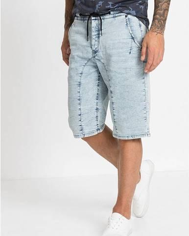 Teplákové džínsové bermudy, Regular Fit