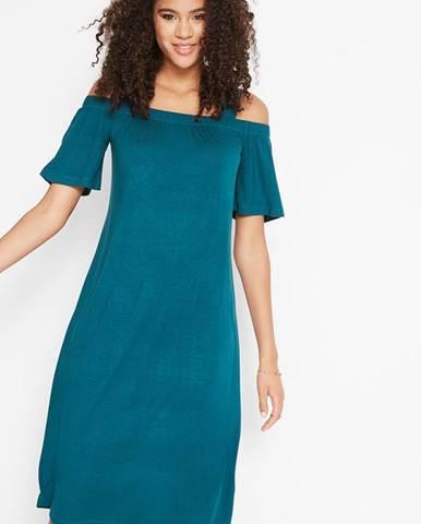 Ležérne šaty Carmen so širokými ramienkami