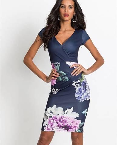 Šaty s kvetovanou potlačou