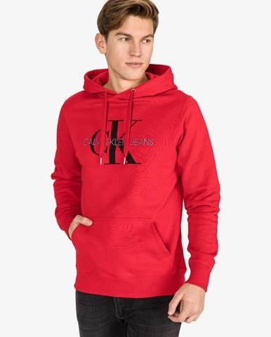 Monogram Mikina Calvin Klein Červená