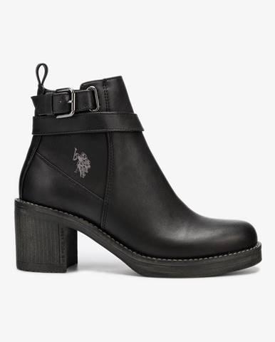 Cecile Kotníková obuv U.S. Polo Assn Čierna