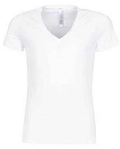 Tričká s krátkym rukávom Hom  SUPREME COTTON TSHIRT COL V PROFOND