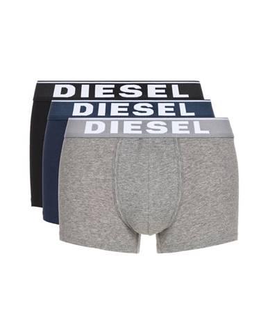 Diesel Boxerky 3 ks Čierna Modrá Šedá