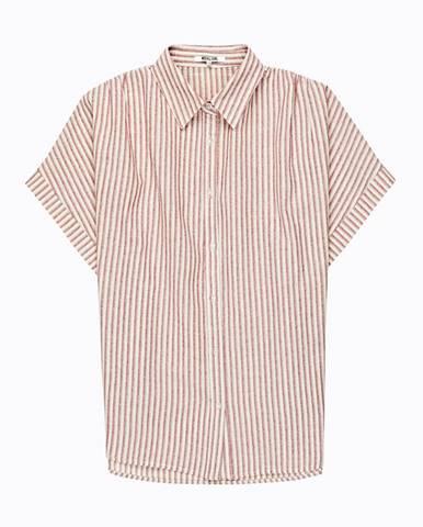Bavlnená prúžková široká košeľa