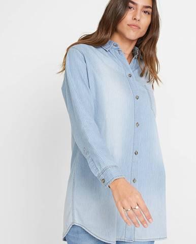 Džínsová košeľa, extra dlhá