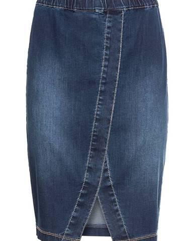 Jemná džínsová sukňa s gumičkou v páse