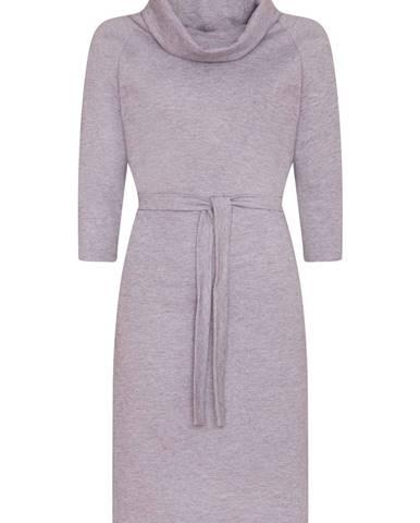 Dámske úpletové šaty  sivá