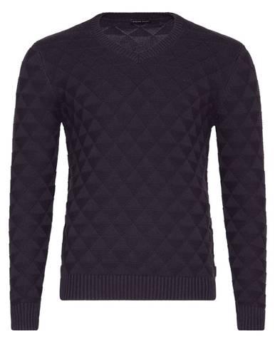 Pánsky antracitový sveter so vzorom