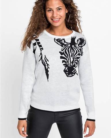 Sveter so Zebra dizajnom