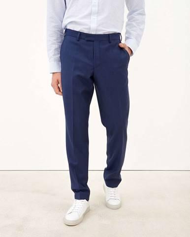 Pánske oblekové nohavice zo 100% panenskej vlny  modrá