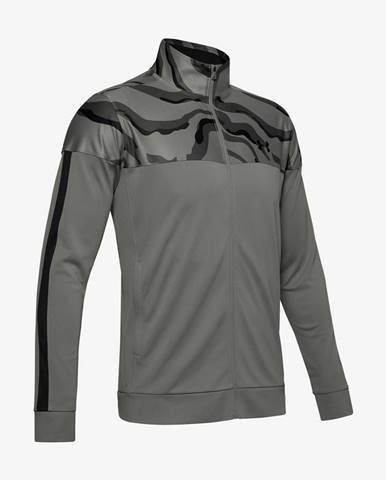 Mikina Under Armour Sportstyle Pique Printed Track Jacket Šedá
