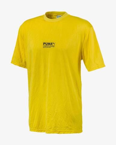 Tričko Puma Avenir Crinkle Tee Žltá