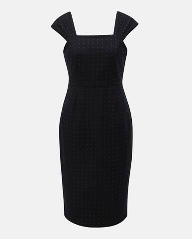 Čierne puzdrové vzorované šaty Dorothy Perkins