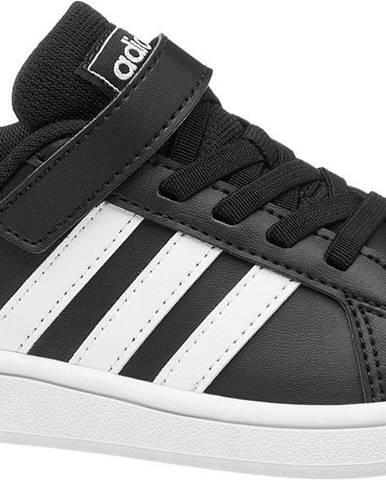 adidas - Čierne tenisky na suchý zips Adidas Grand Court C