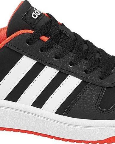 adidas - Čierne tenisky Adidas Hoops