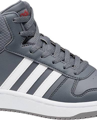 adidas - Sivé členkové tenisky Adidas Hoops Mid 2.0 K