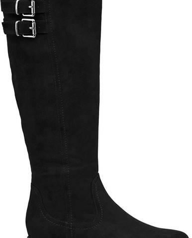 Graceland - Čierne čižmy so širokou sárou Graceland