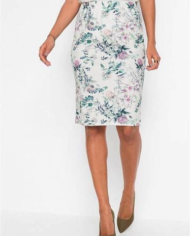 Ceruzková sukňa s potlačou