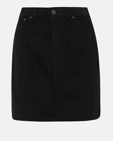 Čierna menčestrová sukňa VERO MODA Karina