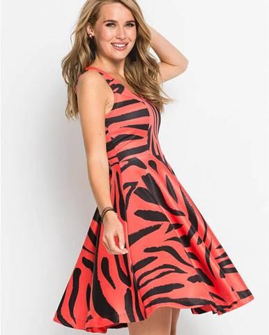 Šaty s tigrovanou potlačou
